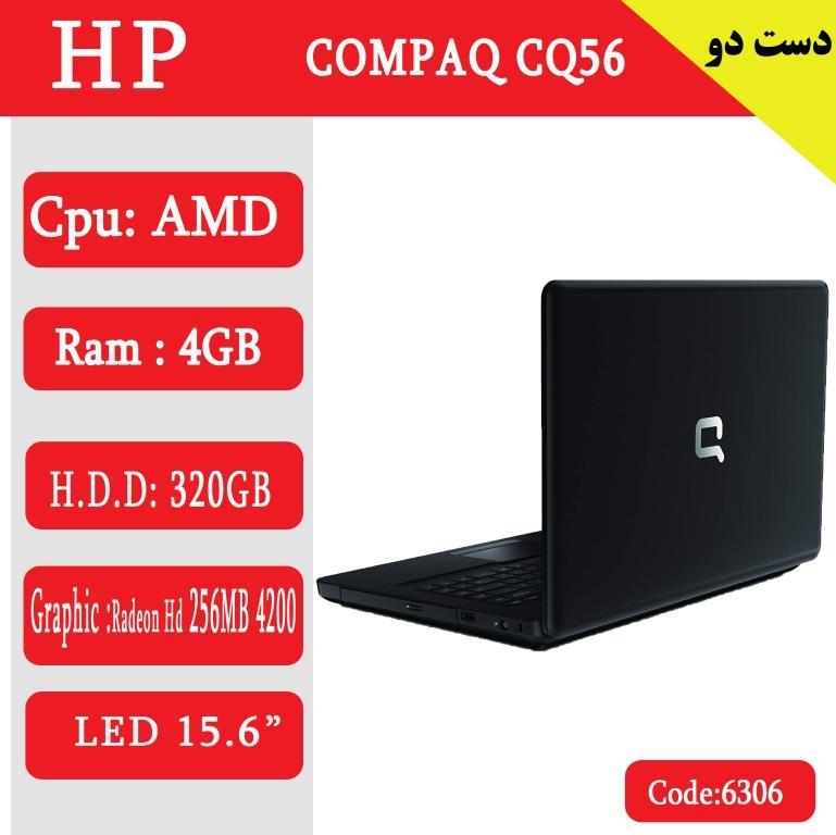 لپ تاپ استوک HP COMPAQ CQ56-کد 6306