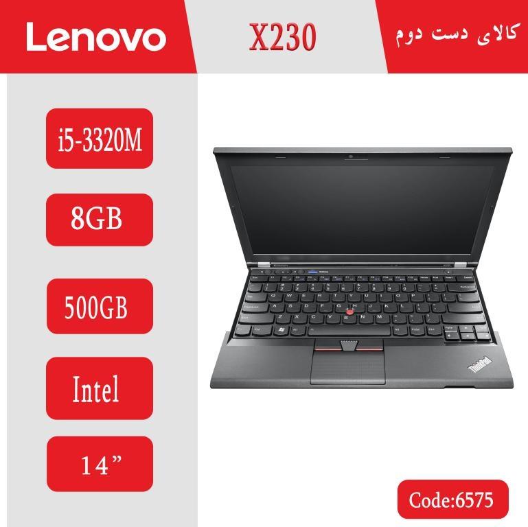 لپ تاپ استوک Lenovo x230 کد 6575