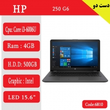 لپ تاپ استوک hp g6 250 کد6810