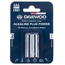 باتری نیم قلمی دوو مدل Daewoo Alkaline Plus Power بسته 2 عددی کد 6102