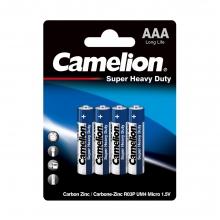 باتری  نیم قلمی کملیون مدل Super Heavy Duty بسته 4 عددی کد 7201
