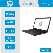 لپتاپ استوک HP 17-a118dx کد 7321