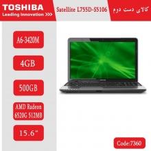 لپتاپ استوک Toshiba Satellite L755D-S5106 کد 7360