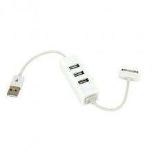 هاب 3 پورت + کابل شارژ iphone 4 مدل H021 کد 4328