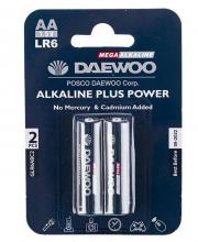 باتری قلمی دوو مدل Daewoo Alkaline Plus Power بسته 2 عددی کد 6397